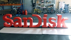 Big Letters made from Styrofoam painted